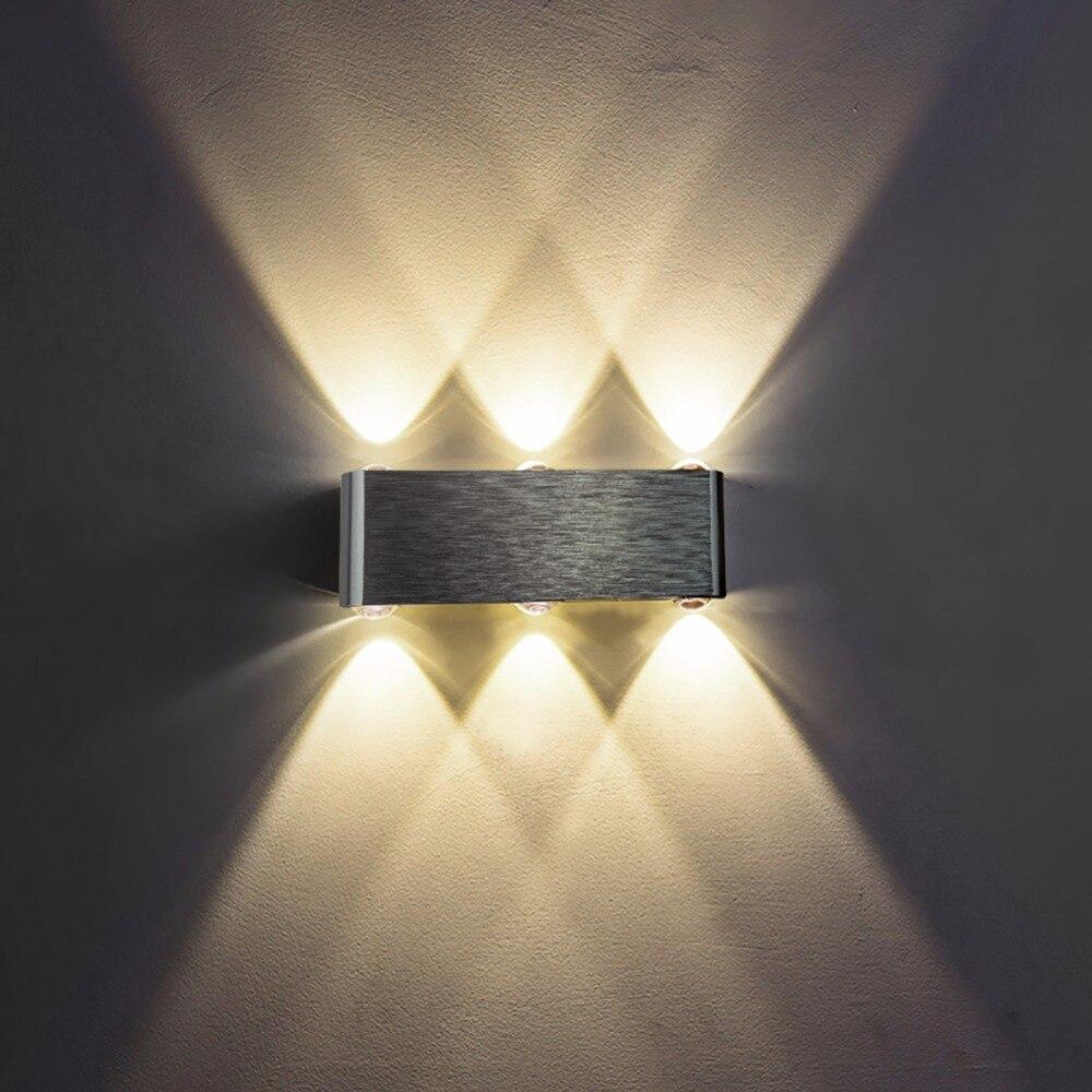JJD Led Mur Lampe Moderne Applique Escalier Luminaire Salon Chambre Lit De Chevet Éclairage Intérieur Maison de Couloir Loft Argent