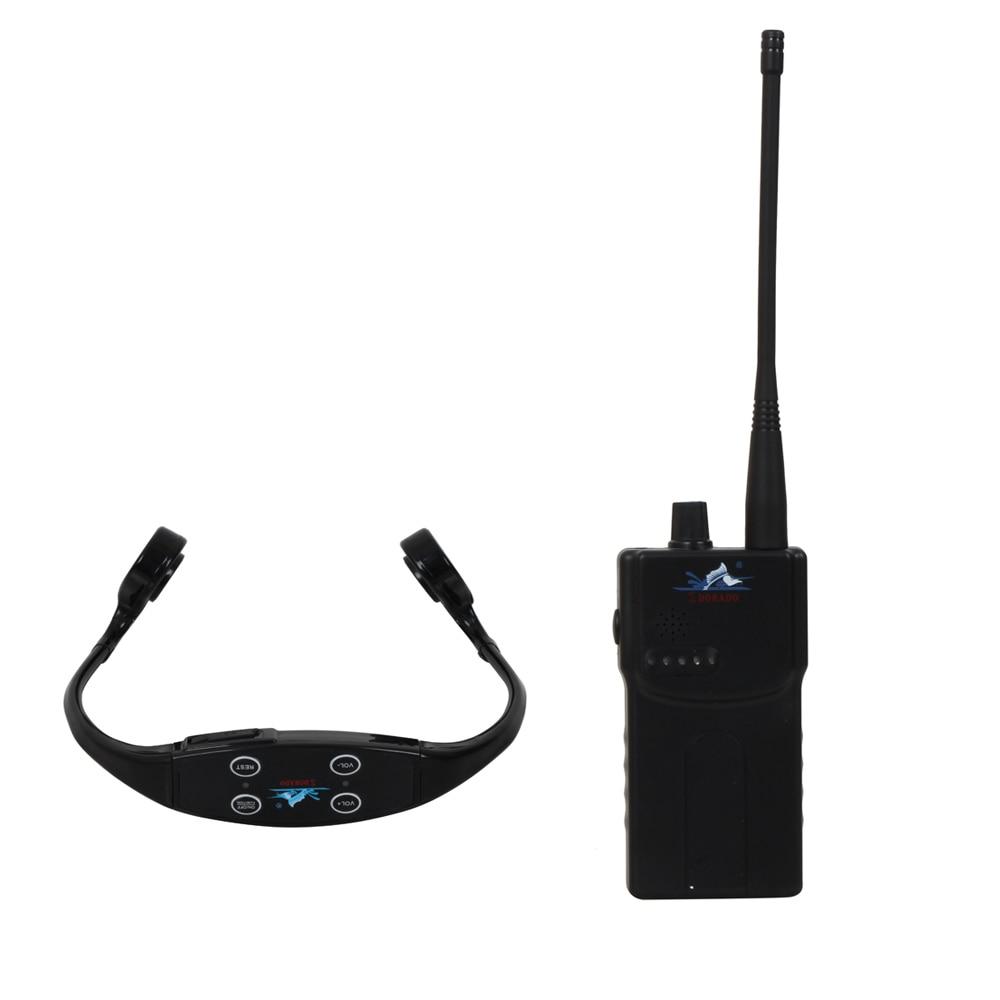 Wireless Transmitting System Waterproof Swimming Headphone With 1 Walkie Talkie +1 Waterproof Headphone Receivers+1 Microphone