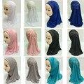 12 Unidades Cabritos de Las Muchachas Hermosas Musulmanes Hijab Islámico Árabe Chales Bufanda Patrón de Flores Al Por Mayor