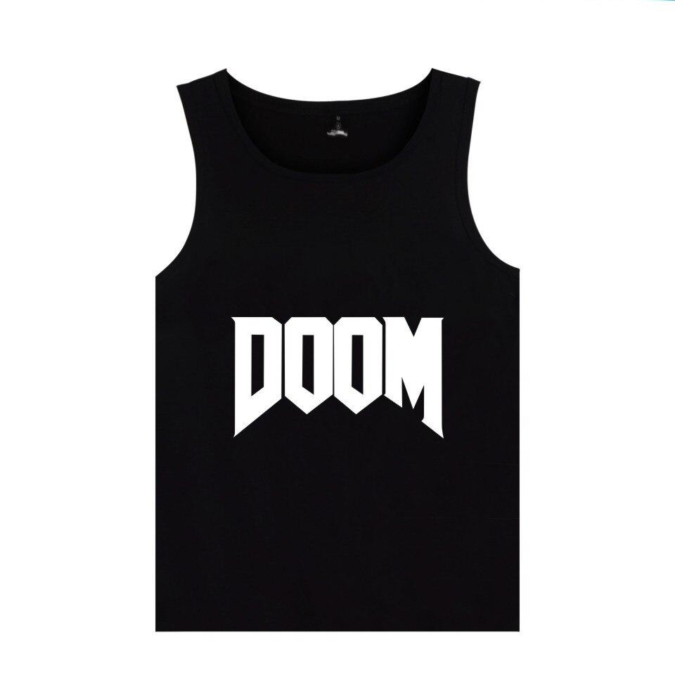 First-person Shooter Game DOOM Tank Tops Men Women Summer Clothing DOOM DILLA Print Tank Tops Vest