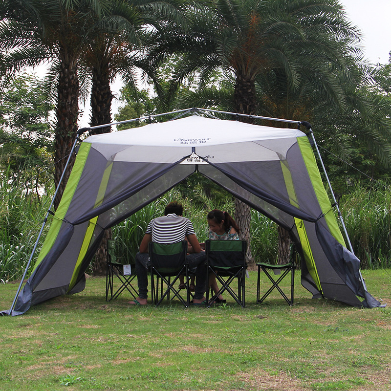Automatic Ultralarge 300 300 210CM 5 8 Person Anti mosquito Camping Tent Large Gazebo Sun Shelter