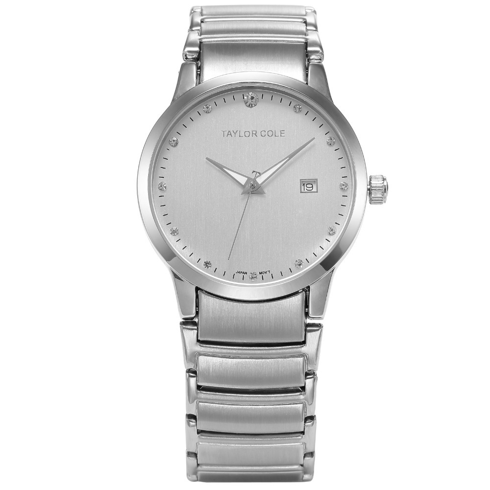 Taylor Cole Luxury Echo Fashion Casual Wristwatch Auto Date Display Women Bracelet Relogio Stainless Steel Quartz