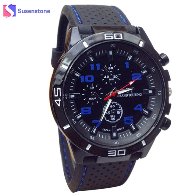 2018 Hot Sale Men Sport Watch Fashion Silicone Military Watches Sport Analog Qua