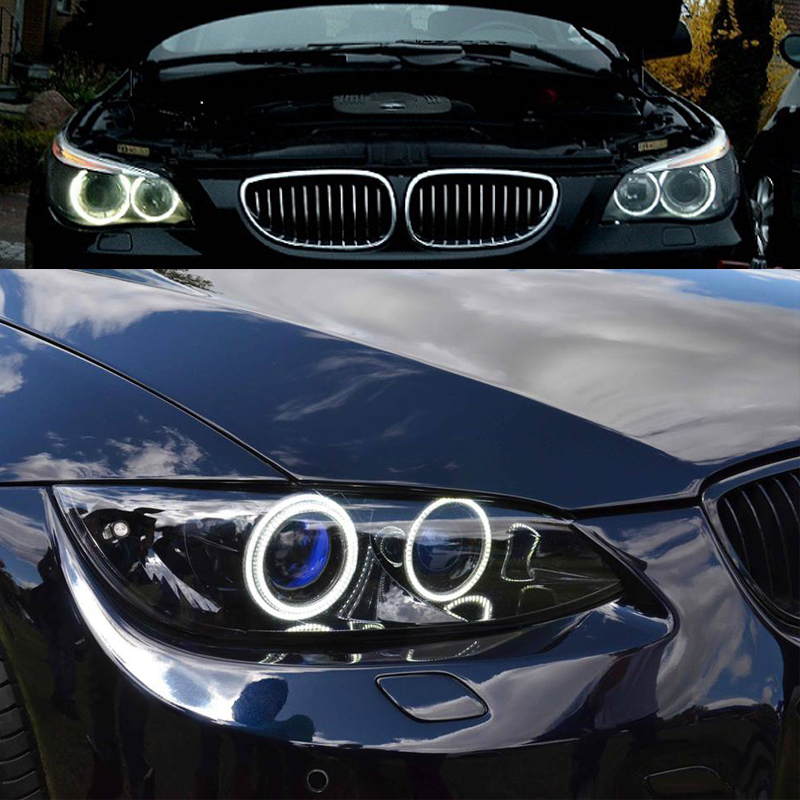 12V LED Angel Eyes Halo ring kit for BMW E53 X5 1999 2000 2001 2002 2003 SMD White headlight Car styling led rings white 3014 smd led angel eyes headlight halo ring marker 131mm 145mm for bmw e46 non projector