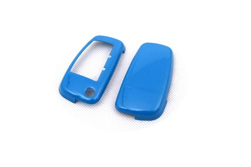 Gloss Blue Remote Flip Key Cover Case Skin Shell Cap Fob Protection Hull S Line For Audi A3 A4 A6 Q5 Q7 Tt R8
