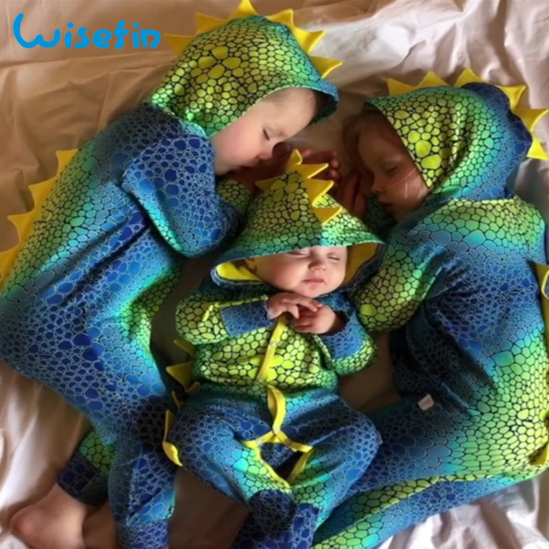 Baby Clothes Dinosaur Baby Costume Baby   Rompers   Newborn Bebes Jumpsuit Long Sleeve Boy Clothes Fall Infant Hoodie   Romper   P30