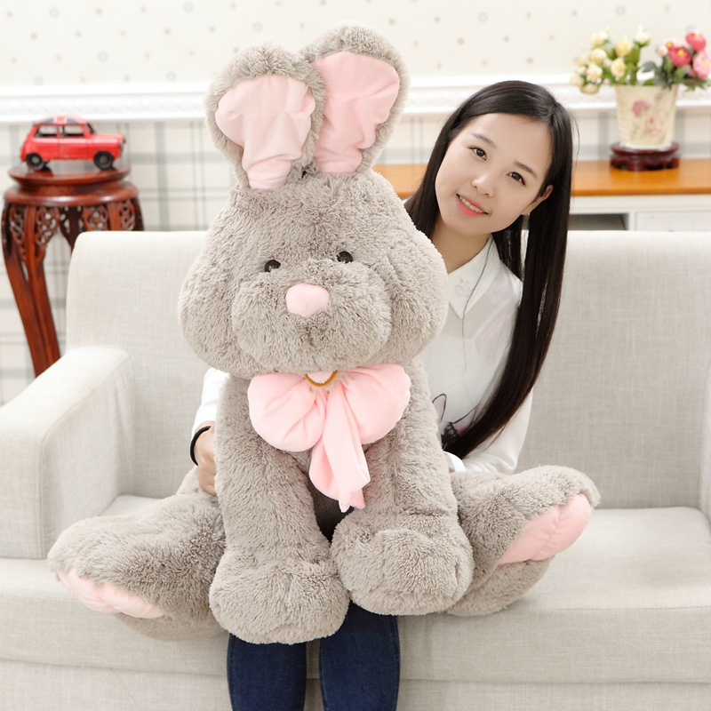 28inch Giant Bunny Plush Toy Stuffed Animal Big Rabbit Doll Gift For Girls Kids Soft Toy Cute Doll 70cm паяльная лампа stayer profi 40655 1 5