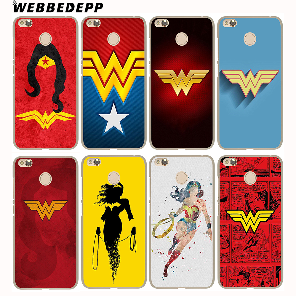 Webbedepp Wonder Woman DC Superhero чехол для Xiaomi Mi6 5S A1 5X Redmi Нотр 4 3 Pro 4A 5A 4X5 плюс 3 Pro 3 S