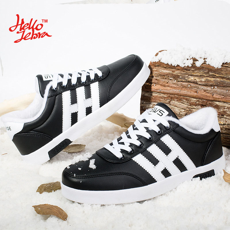 ФОТО Hellozebra Men Casual Shoes Winter Warm Breathable Mix Colors Striped Comfort Board Soft Students Men Shoes 2016 Autumn New