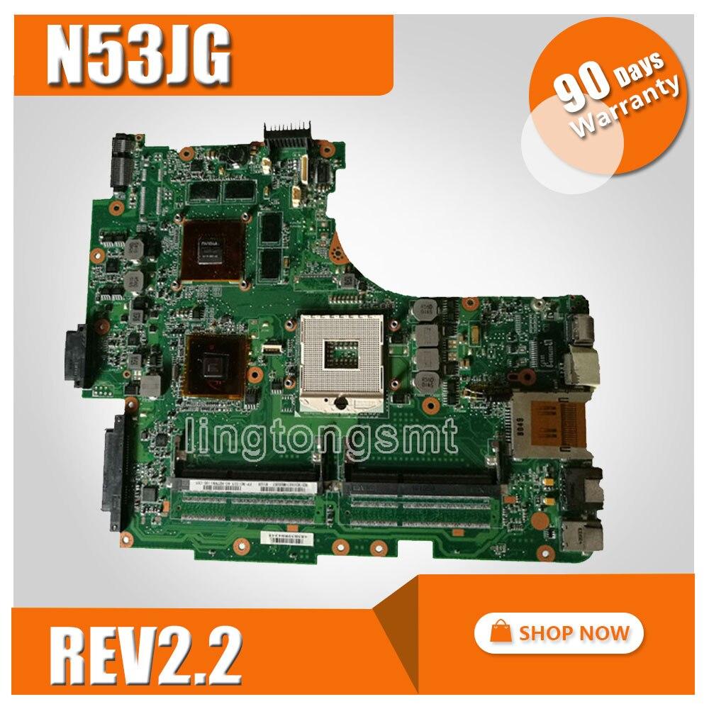 for ASUS N53JG Mainboard N53J N53JF Motherboard 2 RAM SLOTS GT415M 1GB HM55 Chipset 100% tested