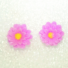Fashion Cute Candy 7 Colors Small Daisy Flower Earrings Resin Soft Pottery Earrings Earrings Women Anti-allergic Jewelery Earrin