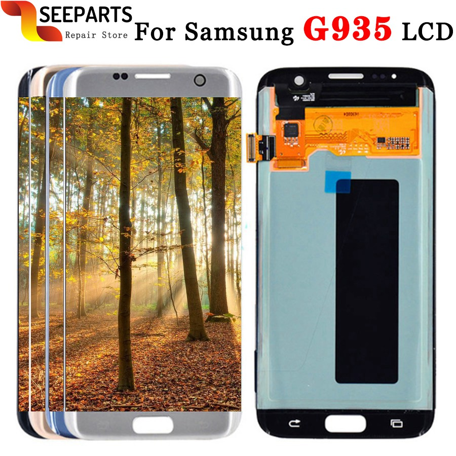 For <font><b>SAMSUNG</b></font> <font><b>GALAXY</b></font> <font><b>S7</b></font> EDGE G935 G935F <font><b>LCD</b></font> <font><b>with</b></font> <font><b>frame</b></font> Display Touch Screen Digitizer Assembly 5.5