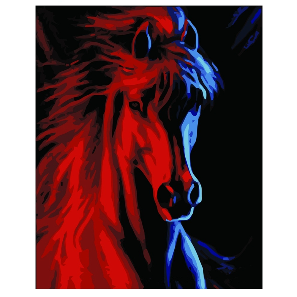 Oil-Painting Numbers-Animals On Canvas 40x50cm Home-Decor For Diy Digital Red-Horse Szyh404