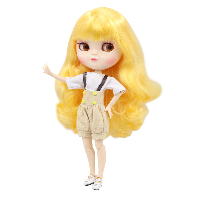 ICY Fortune Days factory azone joint body 30cm white skin Bright yellow long curly hair DIY sd gift toy