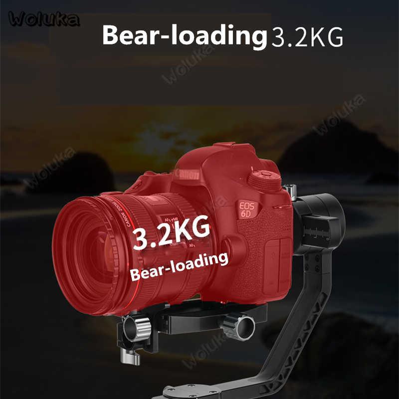 כף יד Vlog מצלמה מייצב Gimbal DSLR מצלמה מחזיק D3 Gopro Gimbal 3 ציר אנטי לנער סוללה נייד Steadicam CD50 t10