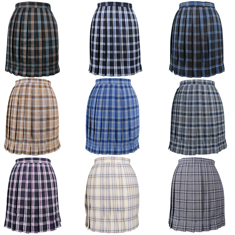 Japanese 2019 New Brand Girls Skirts Pleated Schoolgirls Skirt Uniforms Mini Sailor Skirt School Girls Uniforms Skirt Multicolor