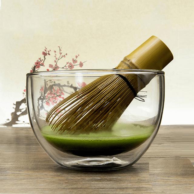 540ml Heat-resistant Borosilicate Glass Matcha Green Tea Bowl Matcha Ceremony Chawan Cup Japan Tableware Giftset Wholesale
