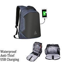 MZORANGE Men Anti-Thief Waterproof USB Charging Laptop Backpack Shoulder Bag Pack New