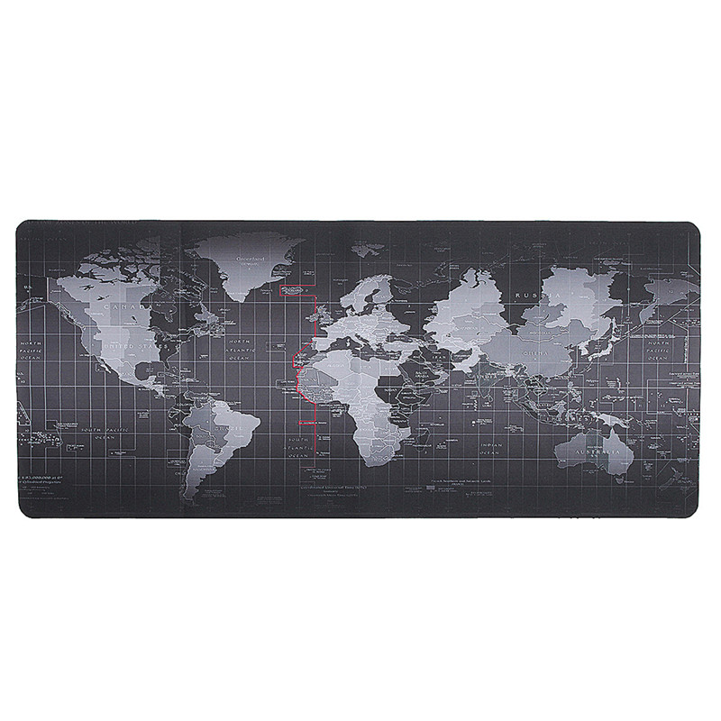 900x400mm World Map Speed Keyboard Mouse Pad Rubber Mat Computer Gaming Mousepad Gamer Utral Large Size