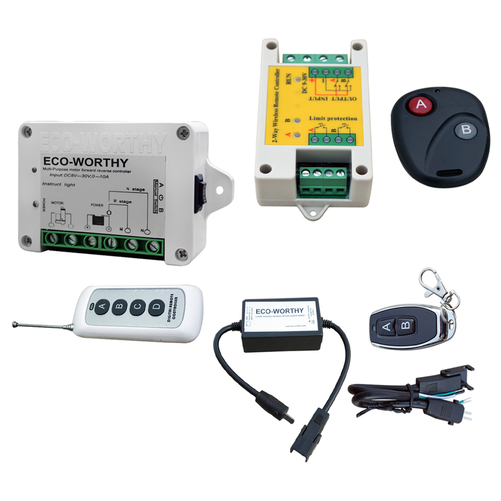 DC HOUSE  Wireless Remote Control Kit Motor Controller For Linear Actuators Door Open