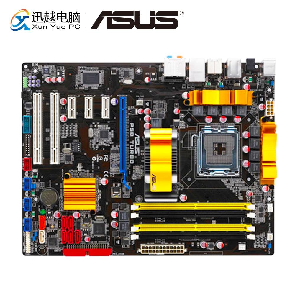 Asus P5QD TURBO Desktop Motherboard P5Q D P45 Socket LGA 775 DDR2 16G SATA 3Gb/s USB2.0 ATX