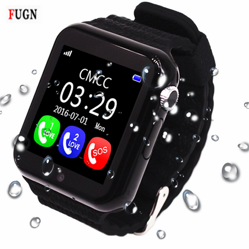 Children Smart Watch V7K Security Anti-lost GPS Tracker Waterproof Smartwatch SIM Card Camera Kid SOS Emergency For iOS Android espanson children security anti lost smart watch gps tracker with camera kid sos emergency for ios android waterproof baby watch