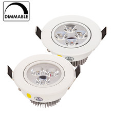 Gran oferta 9W 12W 15W LED Downlight regulable blanco cálido blanco natural puro LED para empotrar blanco punto de luz AC85-265V(China)