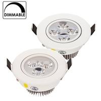 Işıklar ve Aydınlatma'ten Gömme Işıklar'de Sıcak Satış 9 W 12 W 15 W LED Downlight Kısılabilir Sıcak Beyaz Doğa Beyaz Saf Beyaz Gömme LED Lamba spot Işık AC85 265V