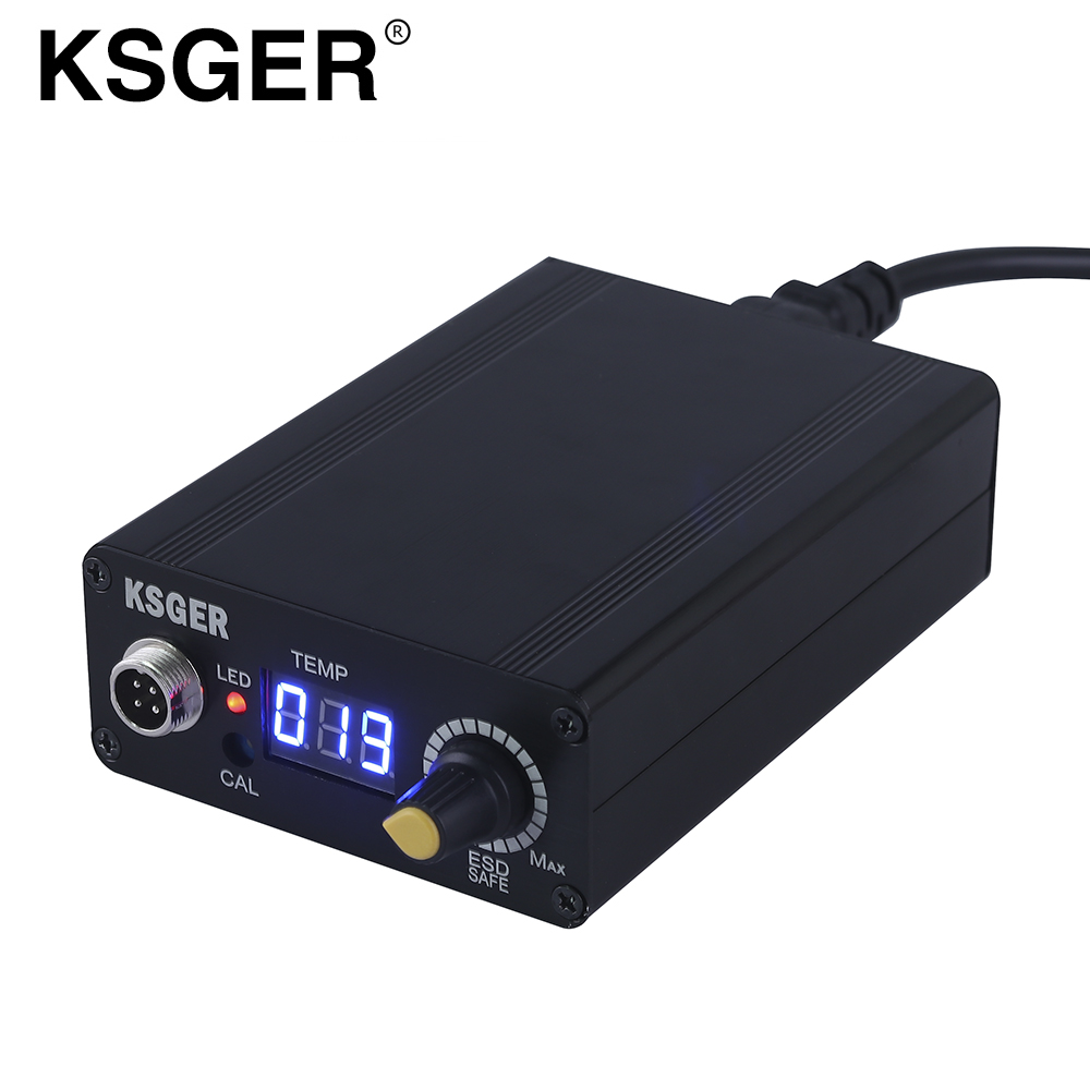 KSGER MINI T12 STC Digital Completed Soldering Station 96w Power Supply Metal Case Cover Electric Solder