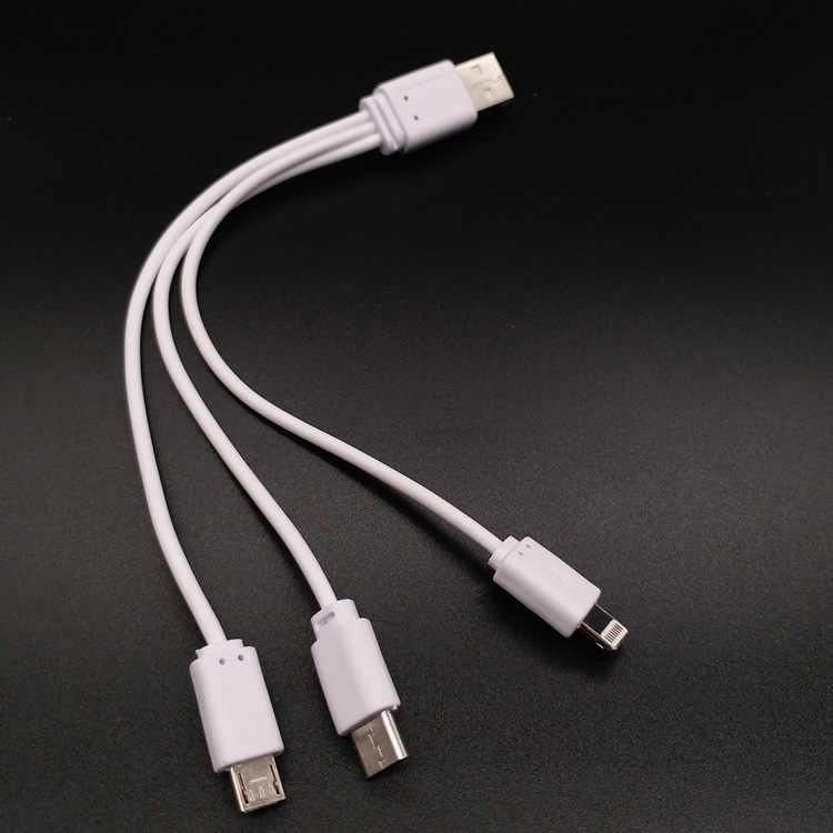 3 In1 mikro usb Tip C Çoklu kablo USB Huawei için Iphone için P30 P20 Lite Mate 30 Pro Android Cep cep telefonu şarj kablosu