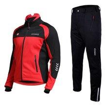 Лыжный костюм для мужчин Зимний открытый ветрозащитный водонепроницаемый тепловой мужской зимние брюки наборы лыжный Сноубординг лыжные брюки для мужчин