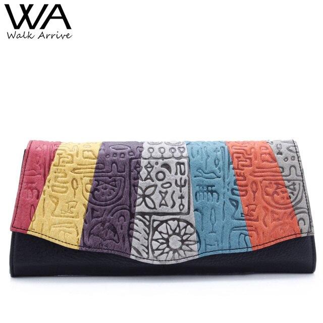 Walk arrive неподдельной кожи женщин сумка мода сцепления сумки оракул тиснением кожа красочные запах мешок
