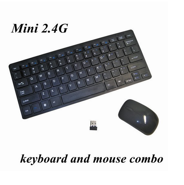 Ultra-thin PC Laptop 2.4G 2.4GHz Wireless Keyboard Mouse Compact & Reliable BLACK