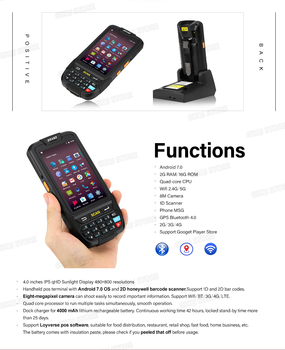 2-GZPDA01 PDA handheld Terminal-