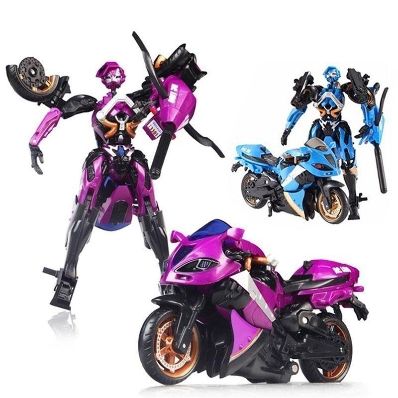 Hot Sale Motorcycle Model Transformation Robot Car Action toys Plastic Toys Action Figure Toys For Children Gifts New Year hot sale removable armor deformable big hero 6 2015 new deformable robot baymax children s action toy figures holiday gift