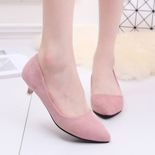 Scrub leather shoes Fashion Spring Autumn Women Sexy Pumps Girl And Woman high heels Lady Shoes CX054