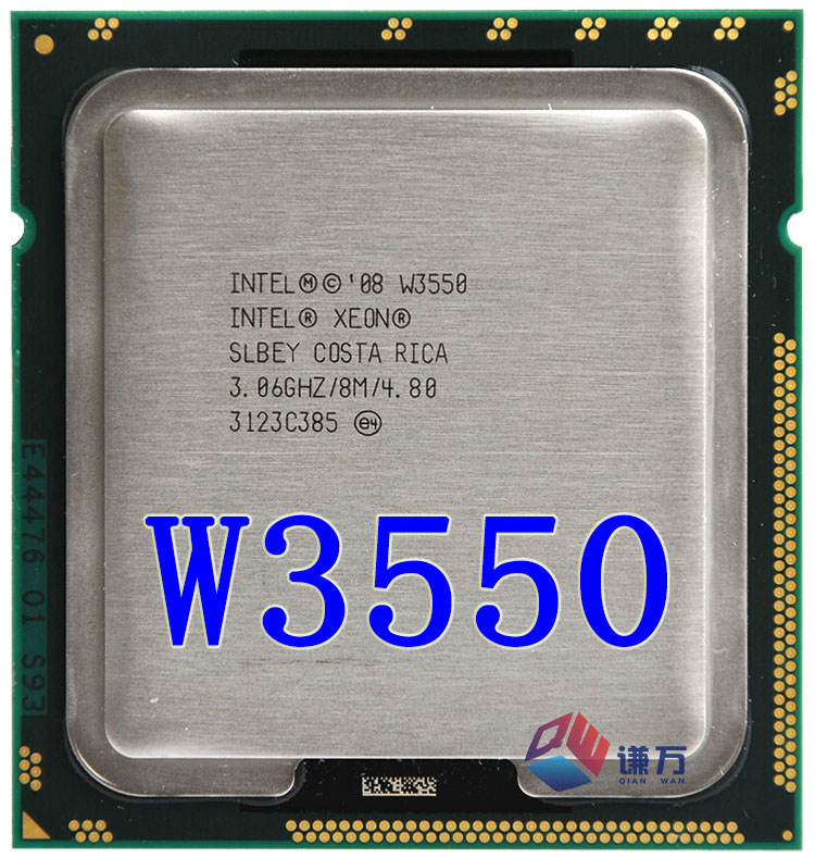 US $5 0 |Original lntel Xeon W3550 Quad Core 3 06GHz TDP 130W 8MB Cache LGA  1366 Desktop CPU (working 100% Free Shipping)-in CPUs from Computer &