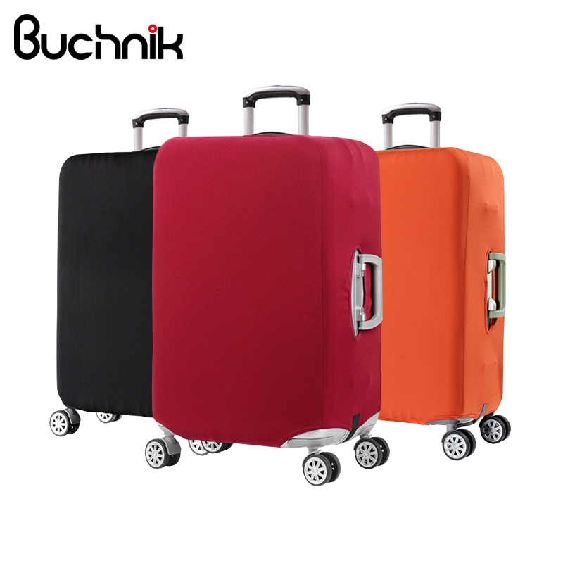 BUCHNIK Solid Luggage Protective Cover Stretch Fabric Suitcase Protector Baggage Dust Case For 18 To 30 Inch Travel Accessories