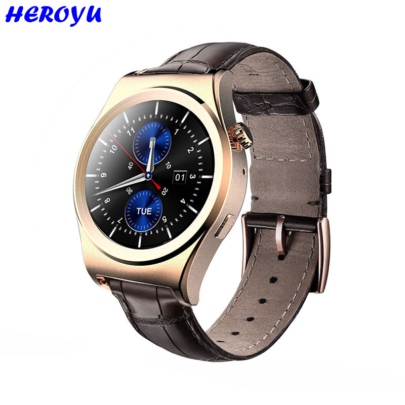 Heroyu Smart Watch Fitness Sleep Tracker Heart Rate Monitor MTK2502 Bluetooth 4 0 Leather font b