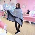 New Women Blanket Oversized Tartan Scarf Wrap Shawl black and white stripe Imitation cashmere Scarf 24