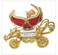 Cute baby pony car egg music box lover gift creative gift choice for Christmas music box
