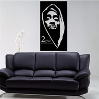 2pac Wall Decal Tupac Amaru Shakur Wall Vinyl Sticker Rapper Hip Hop Home Interior Bedroom