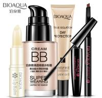 5 pcs Makeup Set Eyebrow pencil Mascara Lip Gloss And Highlighter BB Cream Lasting Moisturizer Make Up Kit