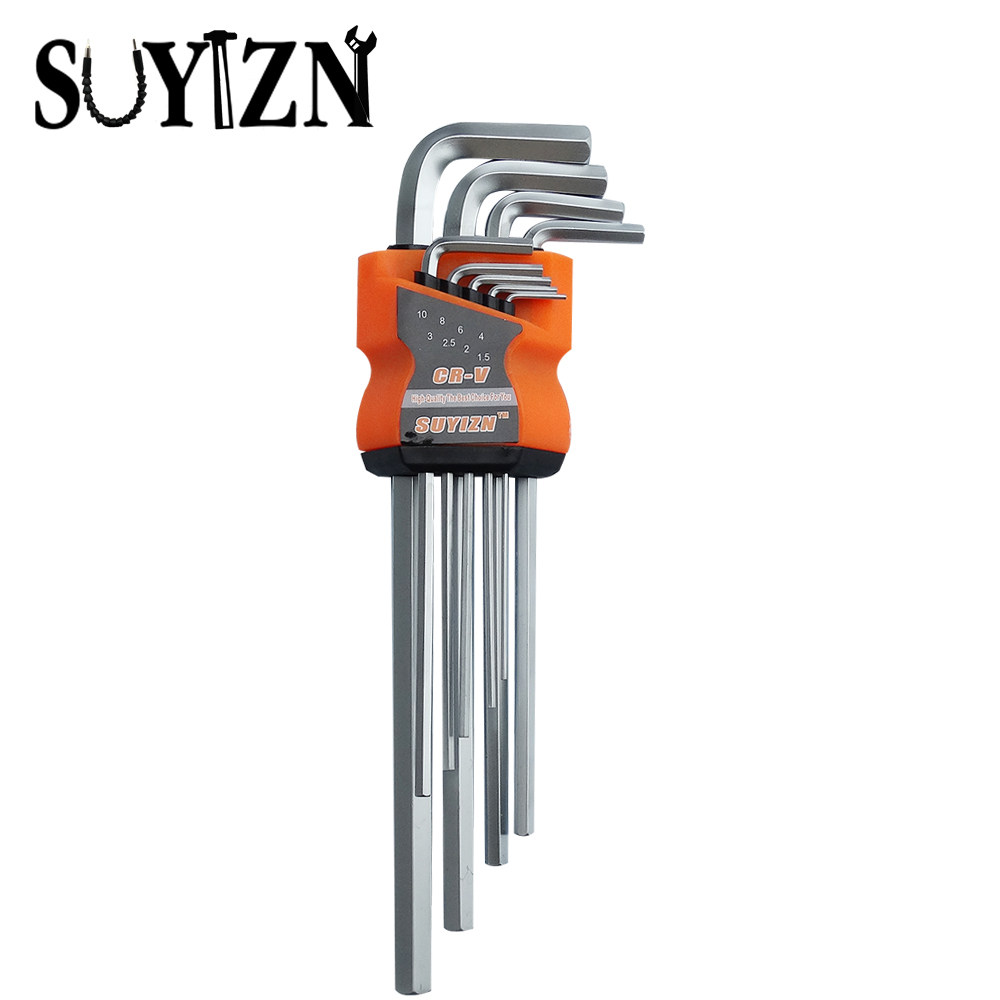 Online color viewer hex - 9pcs Set Long Hex Wrench Tool Inbus Spanners L Shape Allen Wrench Hexagons Set Of