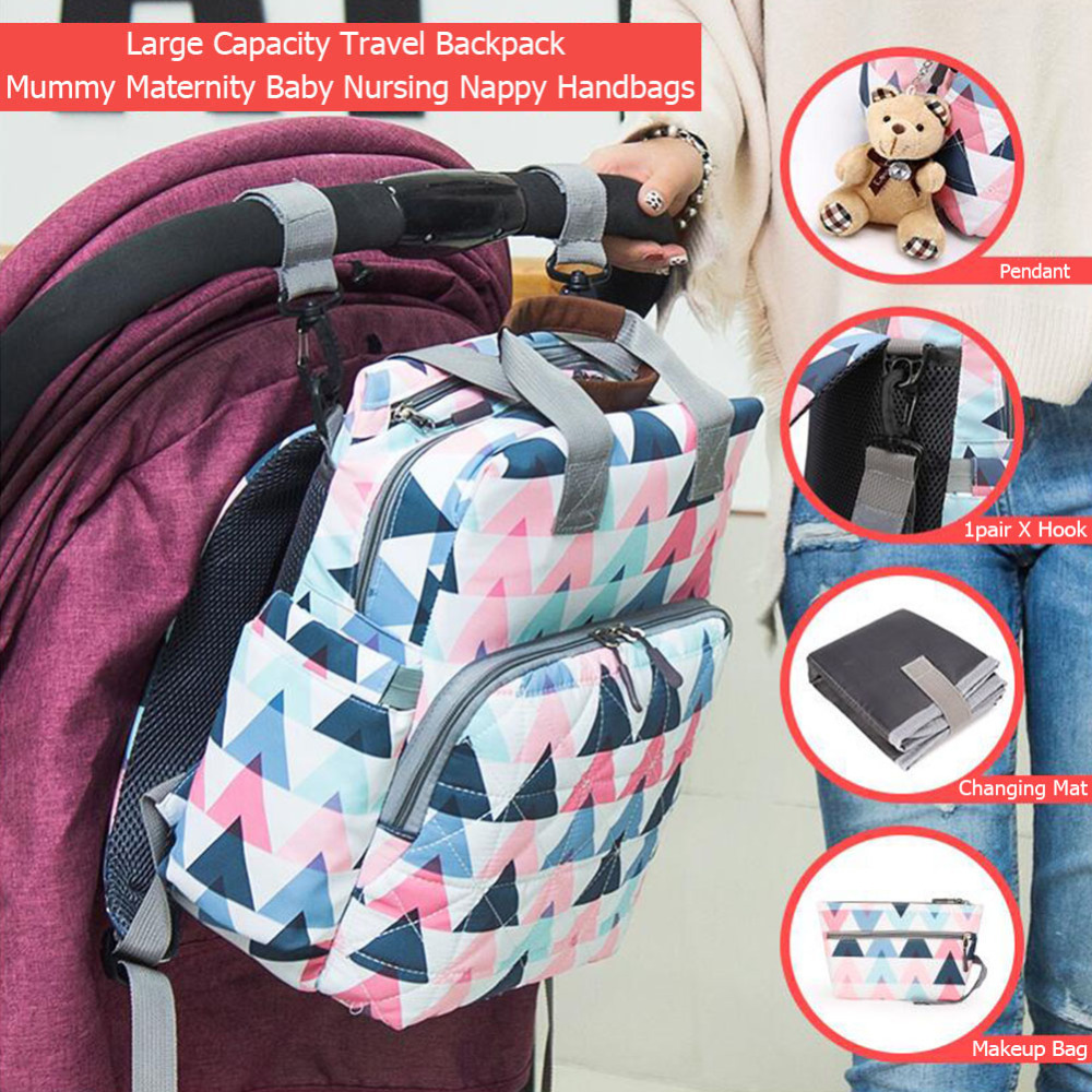 UK Large Mummy Bear Cat Backpack Baby Diaper Nappy Nursing Changing Travel Bags