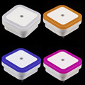 Auto LED Light Induction Sensor Control Bedroom Night Lights Bed Lamp US Plug Brand New