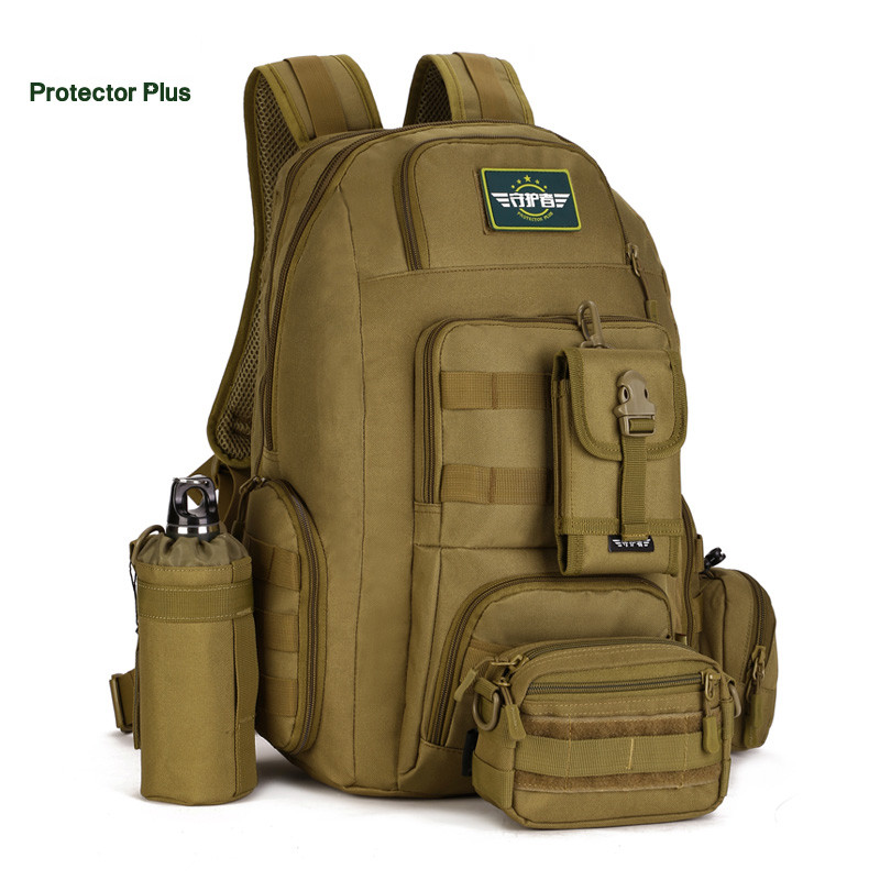 9872e59ad8aa Protector Plus 40L Wear-resisting Nylon Backpacks 14 inch Laptop Backpack  Multi-function Military Bag Travelling Bag P008