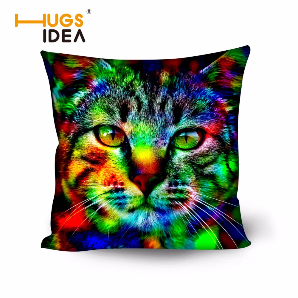 HUGSIDEA Neon Animal Cat Owl Cushion Мұқабасы Sofa 50x50cm - Үй тоқыма - фото 1