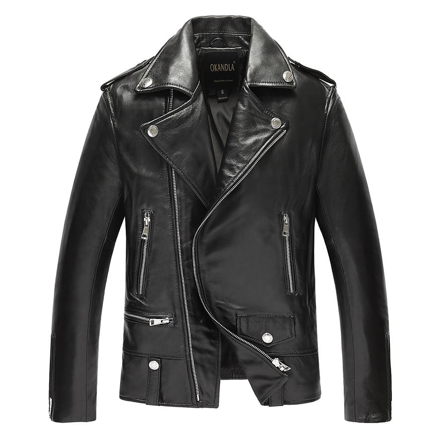 Free Shipping.fashion Man Classic Sheepskin Jackets,men's Slim Genuine Leather Jacket,casual Clothing.moto Biker Coat,sales