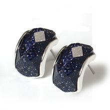 Silver Agate Stud Earrings